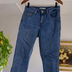 721 High Rise Skinny Jeans with bottom fringe